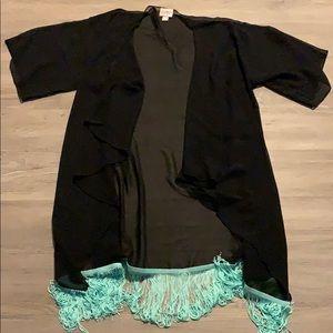 LuLaRoe Monroe cover up sheer black